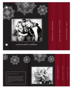 Snowflake Cascade Cards