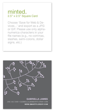 business cards Sweet n Simple at Minted
