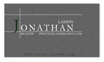 Grey Metal Business Cards