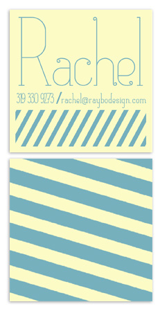 business cards - Comfortable Stripes by Raybo Design