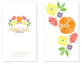 Floral Galore Business Cards