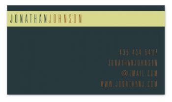 Bold Stripe Business Cards