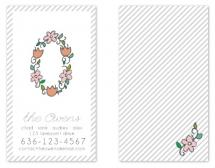 floral monogram by blackberry graphics
