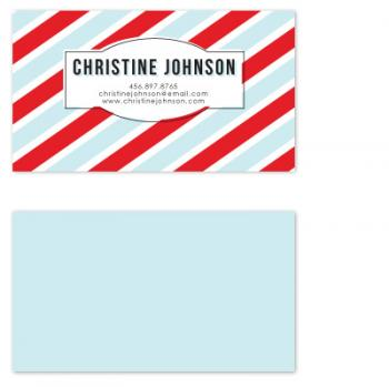 Candy Stripe Business Cards
