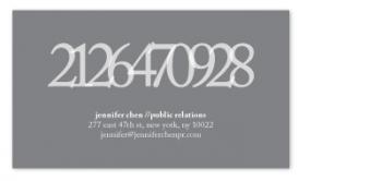 Here's My Number Business Cards