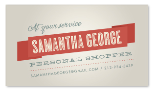 business cards - Vintage Streamer by Olivia Raufman