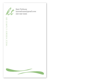 business cards - Be Simply Green by Kate Terhune