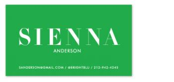 Crisp Color Business Cards