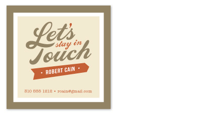 design - Stay in Touch by Smudge Design
