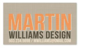 Bold Sophistication Business Cards