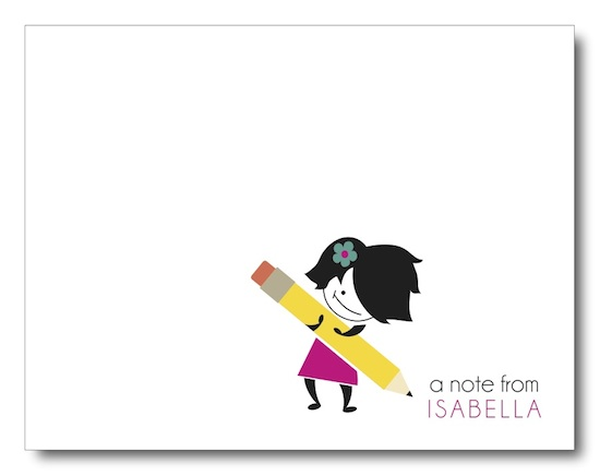 personal stationery - Holding the Pencil is Half the Battle! by Jessica Kim