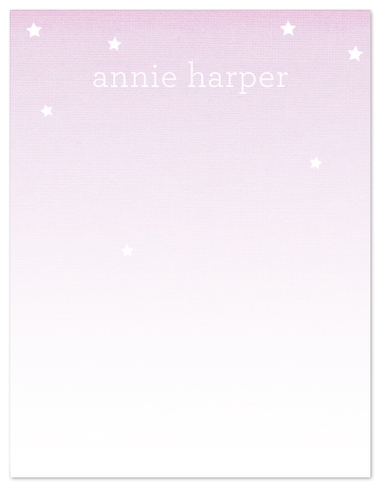 personal stationery - stars for annie by SimpleTe Design