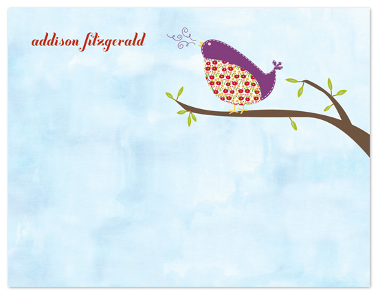 personal stationery - Hello Pretty Birdie by tracey atkinson
