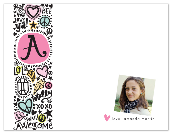 personal stationery - Doodle Initial by Alethea and Ruth