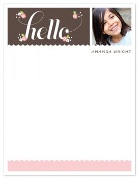 Hello Posies Personal Stationery