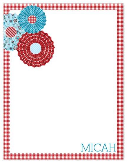 personal stationery - Picnics and Pinwheels
