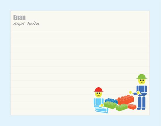 personal stationery - playtime with building blocks by Gunjan Srivastava