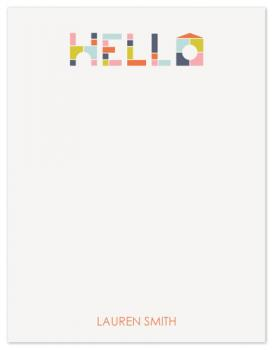 Block Letters Personal Stationery