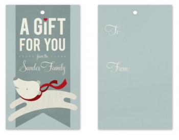 Polar Gift Tag Design