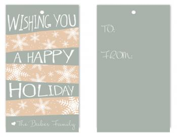 Snow Fall Gift Tags