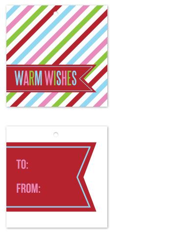 gift tags - Candy Stripe Ribbon by Jen Wawrzyniak