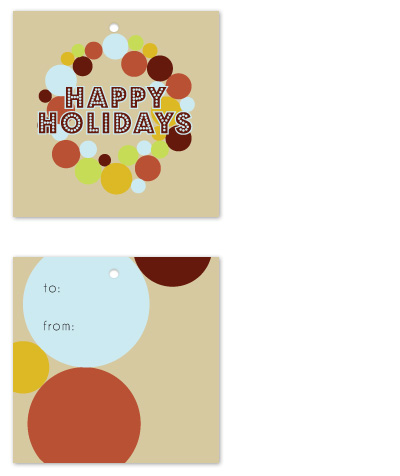 gift tags - Circle Wreath by Jen Wawrzyniak