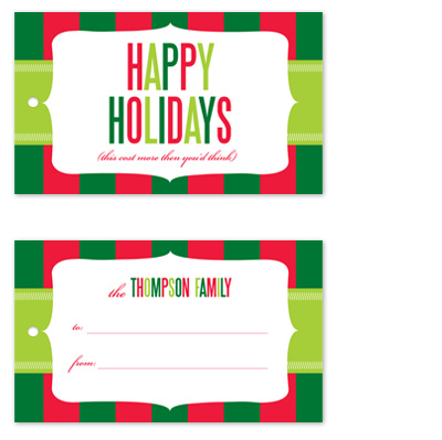 gift tags - Cost More by Jill Zielinski Designs