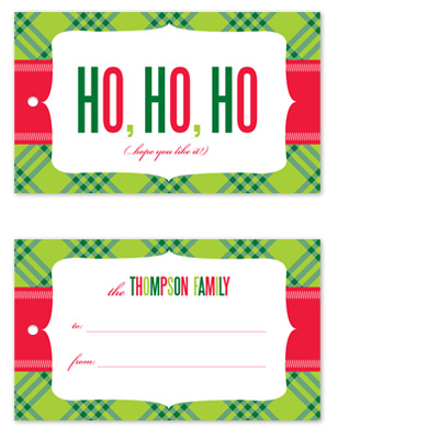 gift tags - Ho Ho Hope by Jill Zielinski Designs