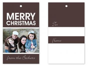 Warm holiday wishes Gift Tags