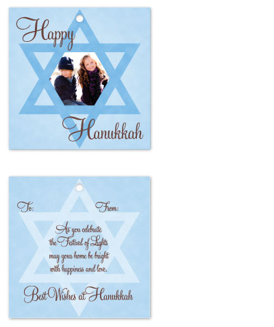 gift tags - Happy Hanukkah by Connie Daly
