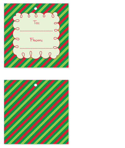 gift tags - Squiggly Holiday