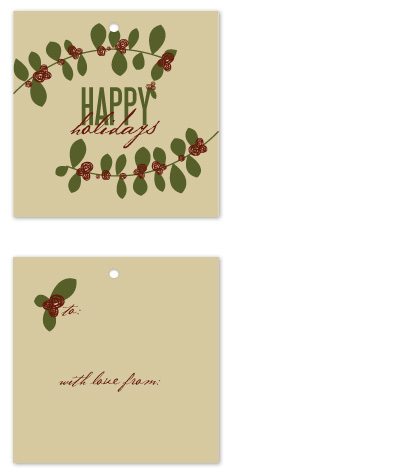 gift tags - Holly and Holidays by Jen Wawrzyniak