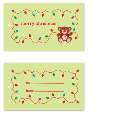 gift tags - Jolly Teddy
