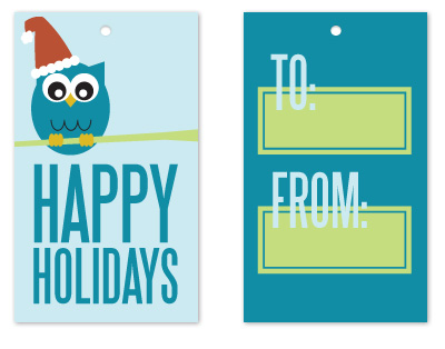 gift tags - Owl Holiday by Jen Wawrzyniak