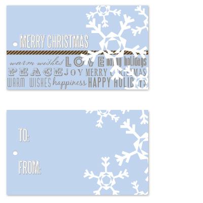 gift tags - Lt Blue Snowflakes by Jen Wawrzyniak