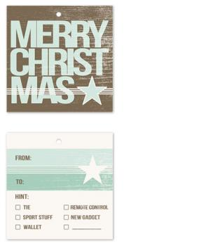 Manly Christmas Gift Tags