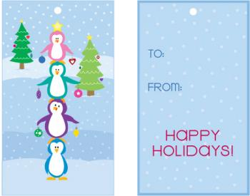 Penguin Tree Gift Tags