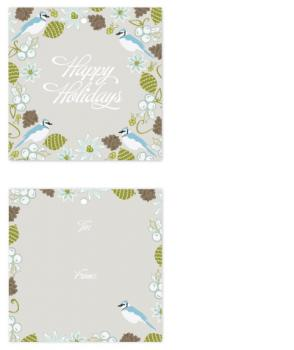 Blue Jay Winter Floral