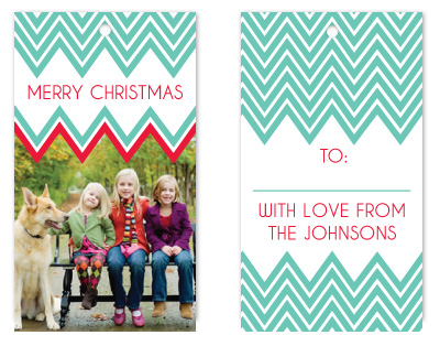 gift tags - Chevron Cheer by Rebekah Canavan