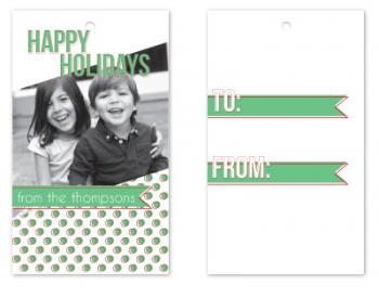 Photo Polka Dots Gift Tags