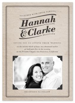 Vintage Photo Corners Wedding Invitations