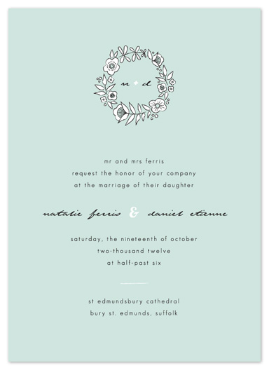 wedding invitations - Seaglass Floral