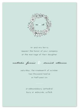 Seaglass Floral Wedding Invitations