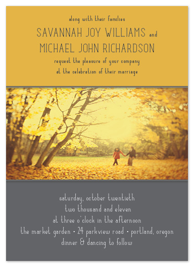 wedding invitations - Autumn Harvest by TwoBirds Paperie