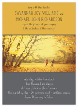 Autumn Harvest Wedding Invitations