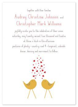 A Lovebird Song Wedding Invitations