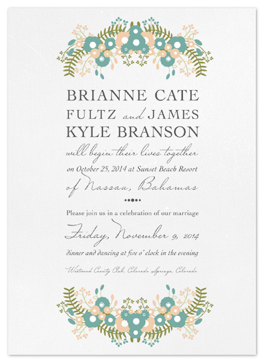 wedding invitations - Floral Destination by Bethany Anderson