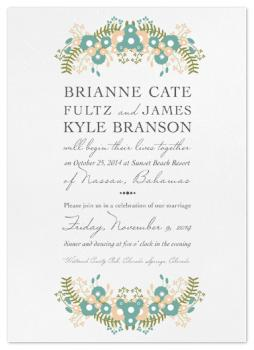 Floral Destination Wedding Invitations