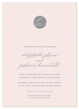 Blushing Wedding Invitations
