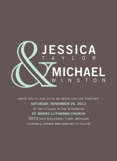 wedding invitations - It's All in the Names by The Paper Proposal